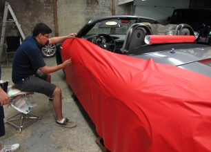Winnipeg-Vehicle-Wraps-3M-Matte-red-porche-2