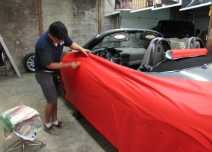 Winnipeg-Vehicle-Wraps-3M-Matte-red-porche-3