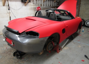 Winnipeg-Vehicle-Wraps-3M-Matte-red-porche-6