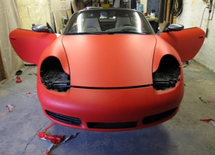 Winnipeg-Vehicle-Wraps-3M-Matte-red-porche-7