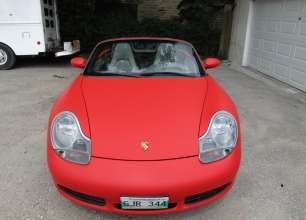 Winnipeg-Vehicle-Wraps-3M-Matte-red-porche-8
