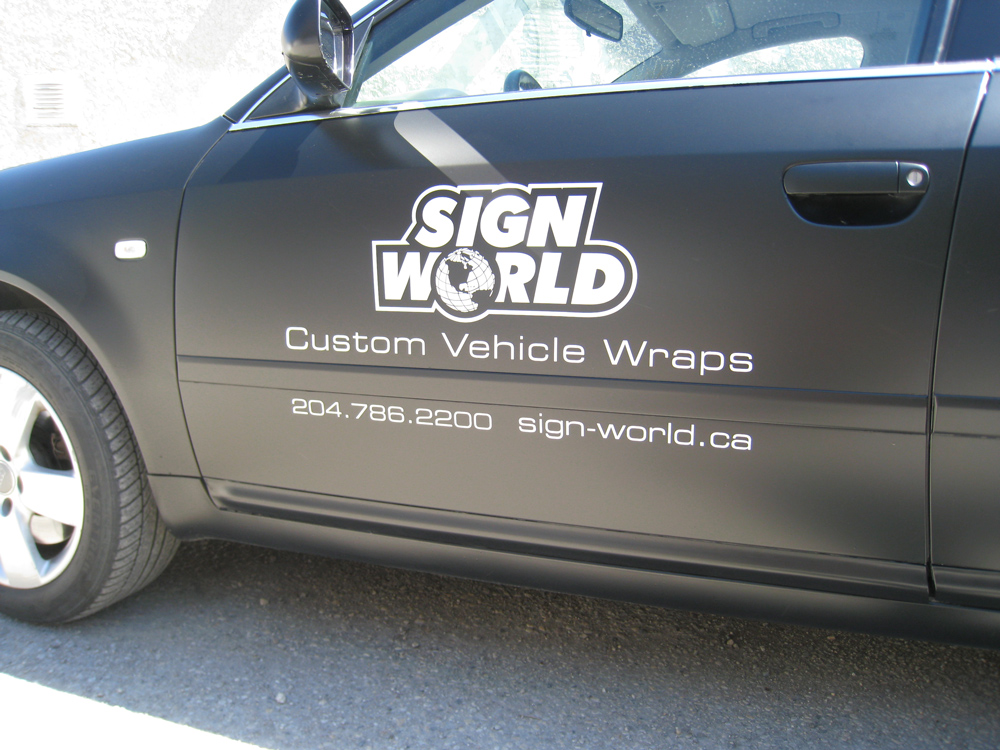 Matte-Black-Audi wrap winnipeg
