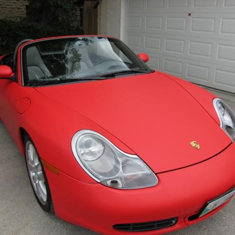 Matte Red Porsche